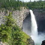 nearby Athabasca Falls -well worth a visit