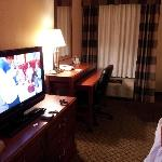 Nice room with large flat screen TV