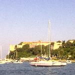 View of Isle de St. Marguerite from transfer boat