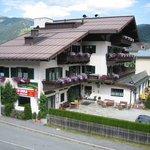 Pension Hubertus from the hillside