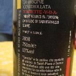 good local red wine (back label)