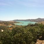  lago Vinuela, view from the villas garden