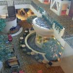 Lobby from glass elevator