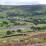 Reeth viewed from the dale top