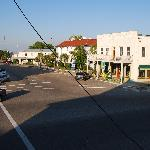 Downtown Apalachicola from the Verandah Restaurant