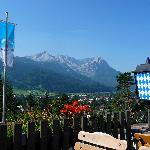 View from the Terrace to The Zugspitze