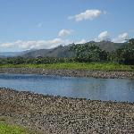 View of Sigatoka River near the village