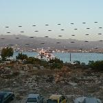 view from property to car ferry in antiparos
