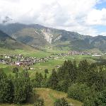 Photo of the village of Disentis.
