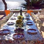 Breakfast and meals in front of the sea