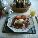 "A ""full Irish breakfast"" at Johny B's"