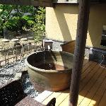 The private onsen in the room