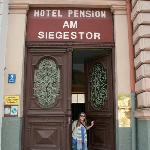 Front Entrance of the Pension; very large, very heavy, old door ^.^