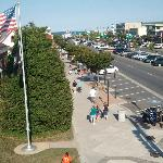  View of Rehoboth Avenue from the rooftop patio