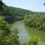 View of the Kentucky River from the lookout point