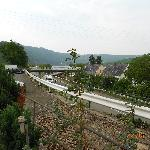 Busy Mosel Highway runs just below
