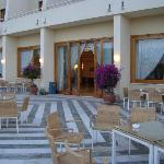  The huge patio area of the hotel where one can enjoy a drink watching the lovely views of the se