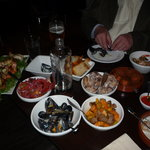 tapas-menue for 5 people