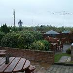 beer garden of Cold Harbour pub