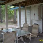 screened in porch, off cabin #6