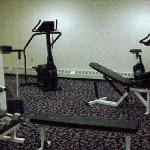  24hr Fitness Room with free weights, treadmill, stationary bikes, stair steppers, matts.