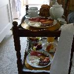  The breakfast trolley full of food :)