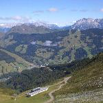 View down to Saalbach