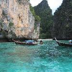 Beautiful scenery of nearby Ko Phi Phi Leh
