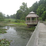  Footbridge with gazebo over the pond