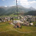 Celerina from the cable car