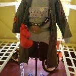 An exhibit of one of the Goonies characters' costume