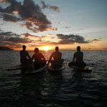 Sunset paddle surfing adventure!