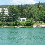 View from a boat on Wörter see