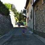 The road leading to the Osteria