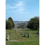 excellent view of both cemetery and bay
