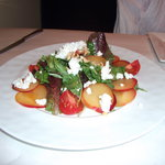 plum and cheese salad