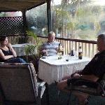  Quiet drink on the verandah