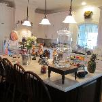 Linda's welcoming kitchen