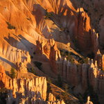 The amphitheatre at sunrise from Bryce Point