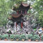 Chinese pavilion in garden