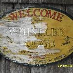  Chipped paint welcome sign