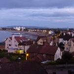 Minehead at dusk, seen from our room