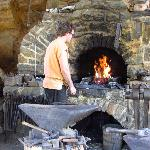 Nearly all metal pieces are forged by hand