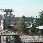 View of water park from the room