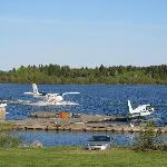 View of the float planes from room.