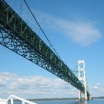 Approaching Mackinaw Bridge