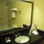 Bathroom in King room bath, not spacious but of ample size