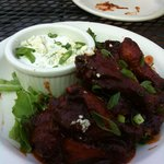 Wings and Blue Cheese dressing