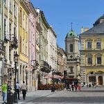 Lviv's beautiful market square