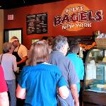 Customers Lined Up at Joey's New York Bagels in Hendersonville, NC